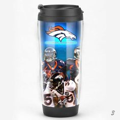 NFL Denver Broncos Travel Mug Fans Coffee Cup Starbucks by MugsBAY, $16.99