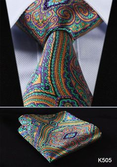 "Men's Ties, T 3.4"" 100%silk Wedding Woven Pocket Square Set suite"