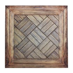 "Déco Décor en carton ""Parquet à motif"" 50 x 50 cm & Décoration chez DecoWoerner Vitrine Vintage, Decoration, Homemade, Wood, Patterns, Pretty, Ideas, Parquetry, Pattern"