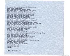 Typewriter Series #791byTyler Knott Gregson