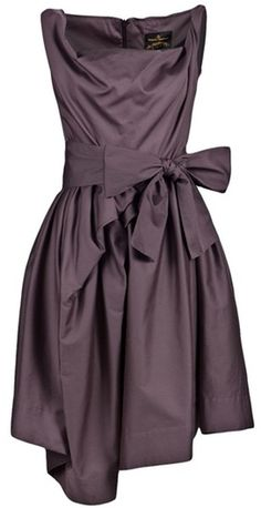 Vivienne Westwood Anglomania Friday Dress in Purple (eggplant)