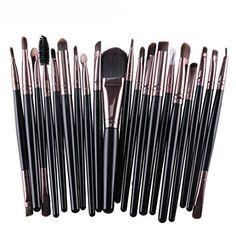 Toraway 20 pcs Makeup Brush Kit tools Makeup Toiletry Kit Wool Make Up Brush Set ** Check out the image by visiting the link.