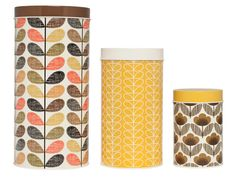 Orla Kiely canisters - set of 3
