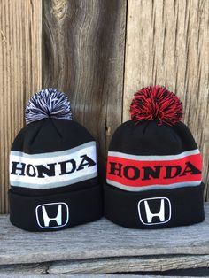 Just in time for Fall we are excited to release our new Honda beanie colorways! We use a really high quality, thick black beanie, then you can choose either red or white for the accent color. Really nice and warm and perfect for all seasons. Also note the ball on top can be cut off very easily with no damage to the beanie.