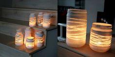 Svícen ze zavařovací sklenice_motouz a barva ve spreji