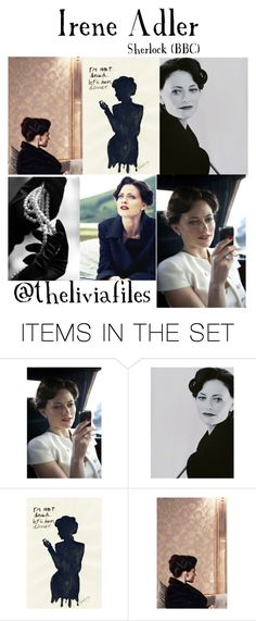 """Irene Adler"" by theliviafiles ❤ liked on Polyvore featuring art"