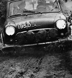 1966 .. Monte Carlo rally , GRX 195 D ,works prepared , group 2 ,1275cc Cooper S , driven by T.V. presenter Raymond Baxter with Jack Scott (once Paddy Hopkirk's co.driver) . Along with the top 3 finishers , GRX 5 / 55 / 555 D , they were disqualified for spurious headlamp irregularities , the organisers never lived the scandal down .