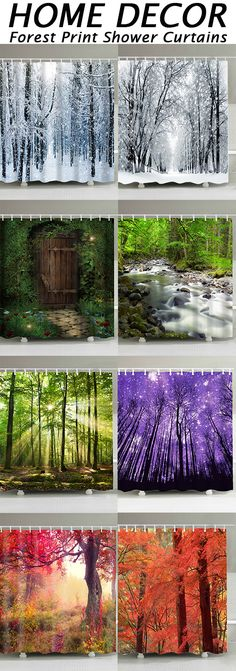 Find Forest Print Shower Curtains at Dresslily.com. Enjoy Free Shipping & browse our great selection of Shower Curtains that will look great in your bathroom!#home#bathroom#showercurtain