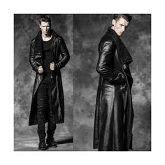 Antique Red Single Breasted Victorian Gothic Dress Trench Coat Men... ❤ liked on Polyvore featuring men's fashion, men's clothing, men's outerwear, men's coats, mens single breasted pea coat, mens single breasted trench coat, mens trench coat and mens coats
