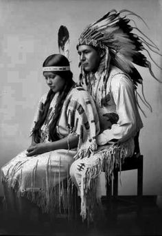 Paiute Native American Lovers on their Wedding Day - 1929