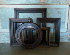 Black Milk Paint Picture Frame Gallery by turquoiserollerset, $52.00