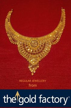 Gold Jewelry Design In India Product Gold Necklace Simple, Gold Jewelry Simple, 18k Gold Jewelry, Gold Jewellery Design, Gold Necklaces, Gold Wedding Jewelry, Bridal Jewelry Sets, Gold Set, Gold Fashion