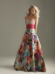 This is dress is the epitome of my style. I love bright, neon colors and a bit of bling. From Night Moves dress collection by Allure.