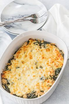 Easy and Delish Cheesy Chicken and Spinach Bake Recipe