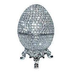 Huevo en Platino con cristales Swarovski - Excelente combinación | Fabergé.- <3<3