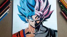 Dibujando a Goku BLUE vs Goku Black ROSE/Drawing Goku/Black