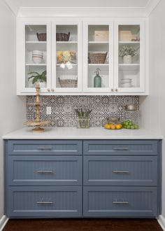 Sherwin Williams Granite Peak paint on lower cabinets. See full article on this kitchen at link below. Like the lower cabinet color Kitchen Layout, New Kitchen, Kitchen Decor, Kitchen Design, Kitchen Ideas, 1960s Kitchen, Refacing Kitchen Cabinets, Upper Cabinets, Kitchen Buffet Cabinet