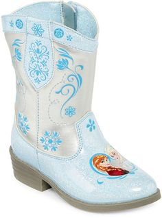 DISNEY Disney Frozen Girls Cowboy Boots - Toddler These are the cutiest boots ever! #shopping  #style  #disney #ad