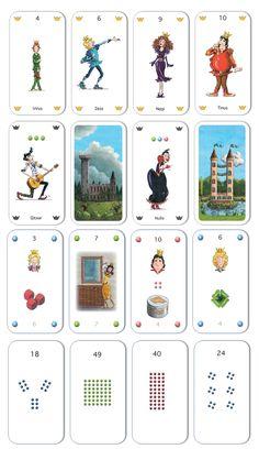 Het Twix kaartspel neemt kinderen mee op een sprookjesachtige ontdekkingsreis door de tafels van 1 t/m 10. Elke tafelsom heeft een uniek beeld en verhaal. Set bestaat uit 88 kaarten. Spelduur: 15 minuten. Spelers: 2 tot 6. Leeftijd: vanaf 5 (geheugenspel) of 7 jaar (tafelspel). Playing Cards, Comics, Playing Card Games, Cartoons, Comic, Game Cards, Comics And Cartoons, Comic Books, Comic Book