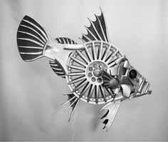This guy needs a home - got any space? #johndory #fish #fishing #landrover #scrapart #carart ##upcycled