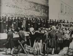 Execution of hostages by the commune in Rue Haxo, Paris 1871 Paris Photos, Photos Du, Old Pictures, Vintage Pictures, Children Of The Revolution, French History, Old Paris, Photo Report, Bw Photography