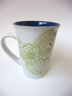 Hand Painted Mug  Exotic  Middle Eastern  by ChuckleMonkeyDesigns, $18.00