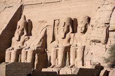 Great Temple at Abu Simbel   Flickr - Photo Sharing!