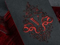 V Group Etched Business Cards foil edging foil monogram snake black red the v group engraved laser etch Web Design, Print Design, Layout Design, Business Card Design, Creative Business, Self Branding, Identity Branding, Visual Identity, Foil Business Cards
