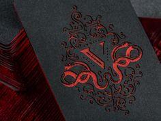 V Group Etched Business Cards