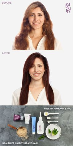Is your hair damaged from harsh chemical hair color? Get softer, shinier, more…