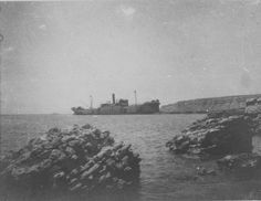 River Clyde used as a landing ship at V Beach Cape Helles Gallipoli on 25th April 1915 seen later in the campaign