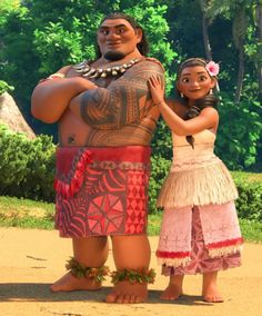 Moana's parents Tua & Sina