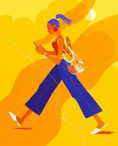 Editorial Illustrations by Samantha Mash   Daily design inspiration for creatives   Inspiration Grid Flat Illustration, Character Illustration, People Illustration, Eat Together, Freelance Illustrator, Motion Design, Color Inspiration, Amazing Art, Summertime