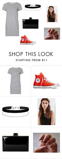 """clutch"" by kennajayce on Polyvore featuring M.i.h Jeans, Converse, Miss Selfridge and REGALROSE"