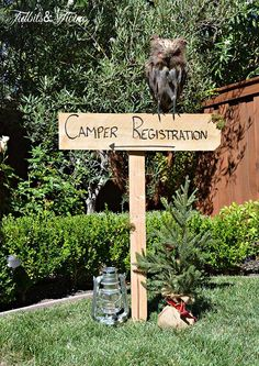 Tidbits Twine Camper Registration Backyard Campout Birthday Party
