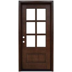 Steves & Sons 36 in. x 80 in. Savannah 6 Lite Stained Mahogany Wood Prehung Front Door-M6410-06-CT-4IRH - The Home Depot