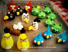 Homemade Angry Birds Cake: I promised this Homemade Angry Birds Cake months ahead of time, and ultimately had to throw a dinner party to show it off. I used chocolate cake, and chocolate
