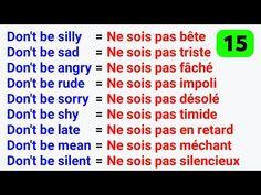 Useful French Phrases, Basic French Words, How To Speak French, French Language Lessons, French Language Learning, French Lessons, French Expressions, English Writing Skills, English Vocabulary