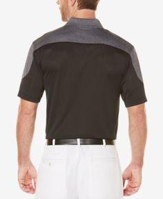 Pga Tour Men's Colorblocked Golf Polo - Black XXL