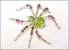 ASTER  GLASS BEADED SPIDER GOTH SUN CATCHER BY LLANYWYNNS ON ETSY, $15.00