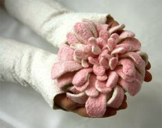 wool/silk felted flower