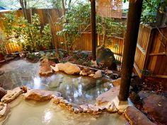 Discover recipes, home ideas, style inspiration and other ideas to try. Japanese Bath House, Japanese Style House, Traditional Japanese House, Japanese Hot Springs, Bedroom Minimalist, Hot Tub Garden, Japan Garden, Home Aquarium, Pool Designs