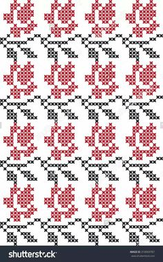 The embroidered pattern Tapestry Crochet Patterns, Fair Isle Knitting Patterns, Knitting Charts, Knit Or Crochet, Filet Crochet, Mosaic Crosses, Palestinian Embroidery, Crochet Potholders, Hand Warmers