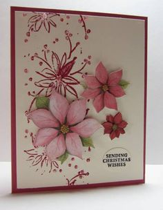 FS300 Poinsettia Christmas Wishes by nancy littrell - Cards and Paper Crafts at Splitcoaststampers