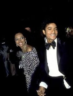 Michael Jackson and Diana Ross at the 1981 Academy Awards.