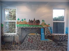 The perfect mural for a Minecraft addict.