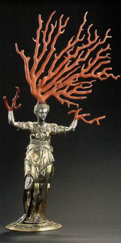 https://flic.kr/p/cTJWGq | Jamnitzer,Wenzel.Daphne.1579-1586.Nuremburg.silver,gilt,coral.[Dresden]