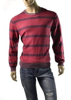 Calvin Klein Sweater Mens Crew Neck Long Sleeve Jumper CK Jeans SZ XL Shirt NEW #CalvinKlein #Crewneck