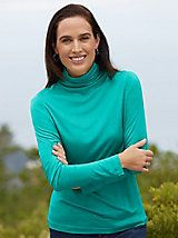 PURCHASED   Funnel Neck Top in Mid-weight Washable Silk | WinterSilks