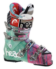 Head Vector Caddy Ski Boots NEW! A boot not to be taken lightly, the Head Vector Caddy is the high performance, high power, and high-octane answer to the call for a comfortable boot for professional all-mountain skiers. Superior comfort and great performance thanks to triple-injection technology. HeatFit liner adapts to your foot. For top skiers. Great boot. Great gift. Ski And Snowboard, Snowboarding, Ski Ski, Powder Puff Girls, Ski Bunnies, Ski Equipment, Go Skiing, Snow Gear, Ski Boots